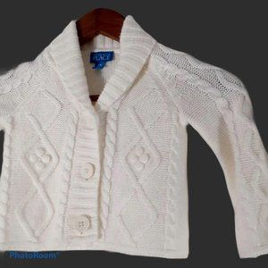 🎈2 for $15 white cable knit sweater 24 months